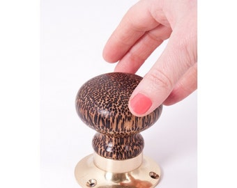 Brown And Black Spotted Door Knob