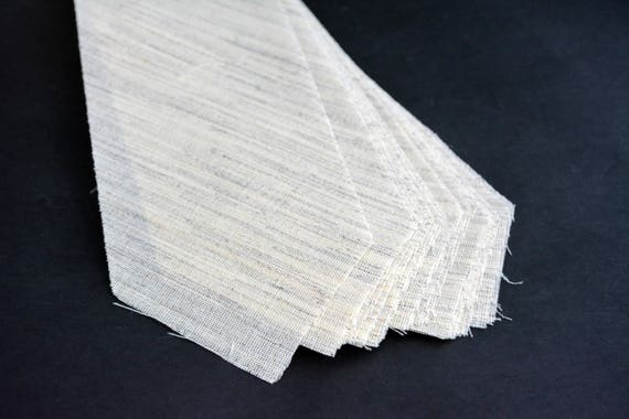 made in Netherlands 3 1//4 10 PACK of PRE-CUT 100/% wool medium weight necktie interfacing // interlining W14//13-33TH AC Ter Kuile 5 SIZES AVAILABLE finest available
