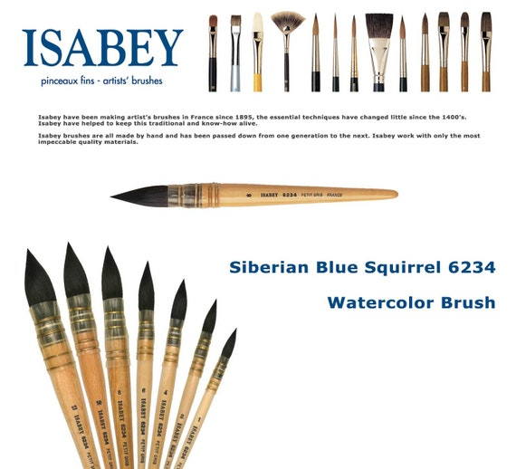 ISABEY 6234 Siberian Blue Squirrel Quill Mop Size 07 Best Price on Web!