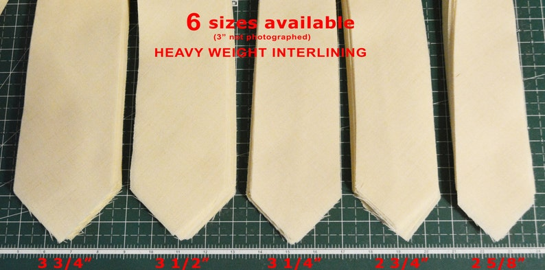 viscose AC Ter Kuile Made Netherlands wool PRE-CUT 3 14 wide heavy weight necktie interfacing  interlining finest available