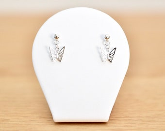 Dangling Butterfly Sterling Silver Studs