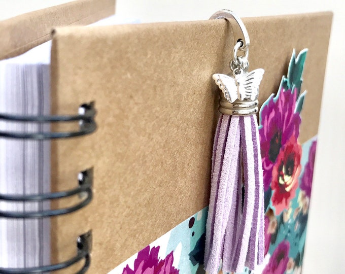 Purple Butterfly Tassel Bookmark