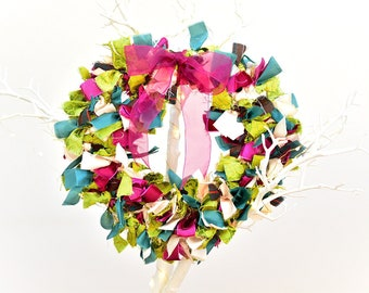 Tatty Vintage Ribbon Wreath