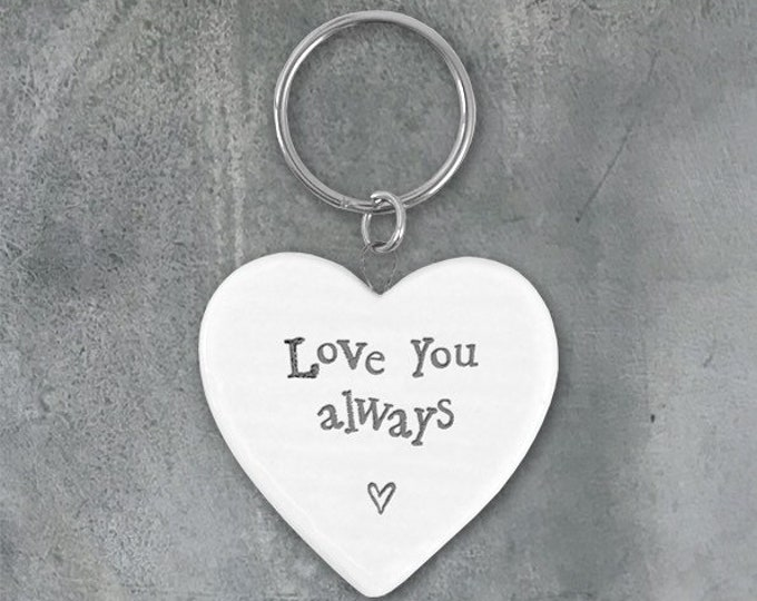 Featured listing image: Love you always- Porcelain Key Ring