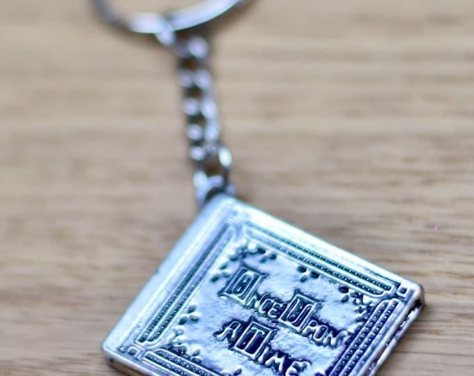 """Story book """"Once upon a time"""" Keychain"""