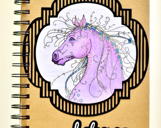 Magical Horse Handcrafted A5 Lined Notebook