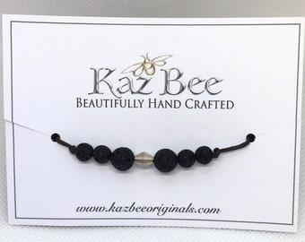 Lava Bead Bracelet - Fully Adjustable