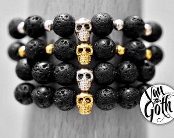 Skull & Lava Unisex Bracelet