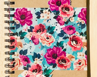 Floral Handcrafted A5 Notebook