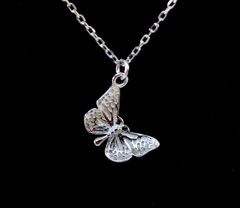 925 Sterling Silver Butterfly Necklace image 0
