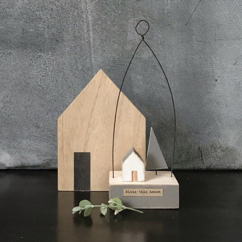 Bless This House Wooden Ornament image 0