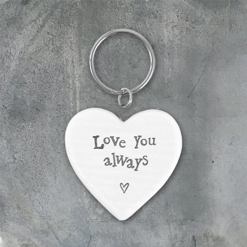 Love you always Porcelain Key Ring image 0
