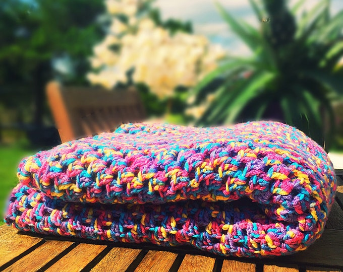 Featured listing image: Colourful Crocheted Blanket