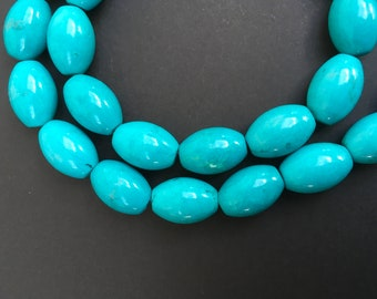 290cts Turquoise Drums approx 14mm x 10mm each