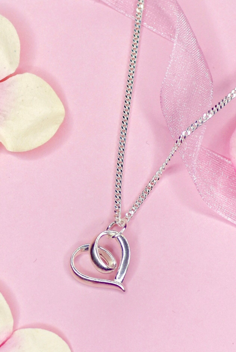 Silver Heart Necklace image 0
