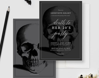Death to Your 20's Party Invitation Edit Yourself Template, RIP 20's, Death To My 20s Death Party, 30th Birthday Digital Download