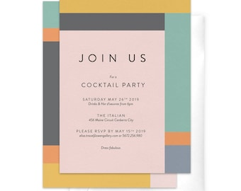 dinner party invitation corporate party invitation work etsy