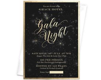 Starry Night Invites Etsy