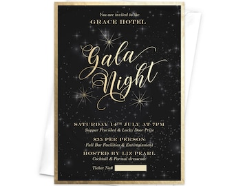 Gala invitation etsy popular items for gala invitation stopboris Images