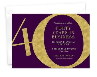 anniversary dinner anniversary party work anniversary etsy