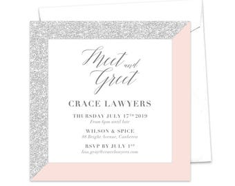 meet and greet work function professional event invitation etsy