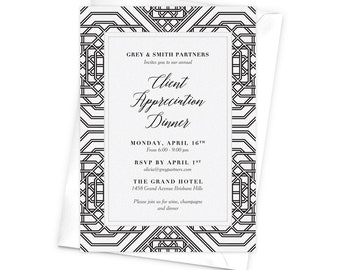 Annual Client Appreciation Dinner Business Invitation Awards Etsy