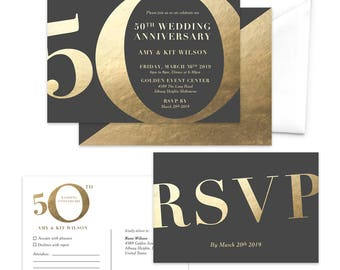 5th year anniversary invitation five years of success fifth etsy