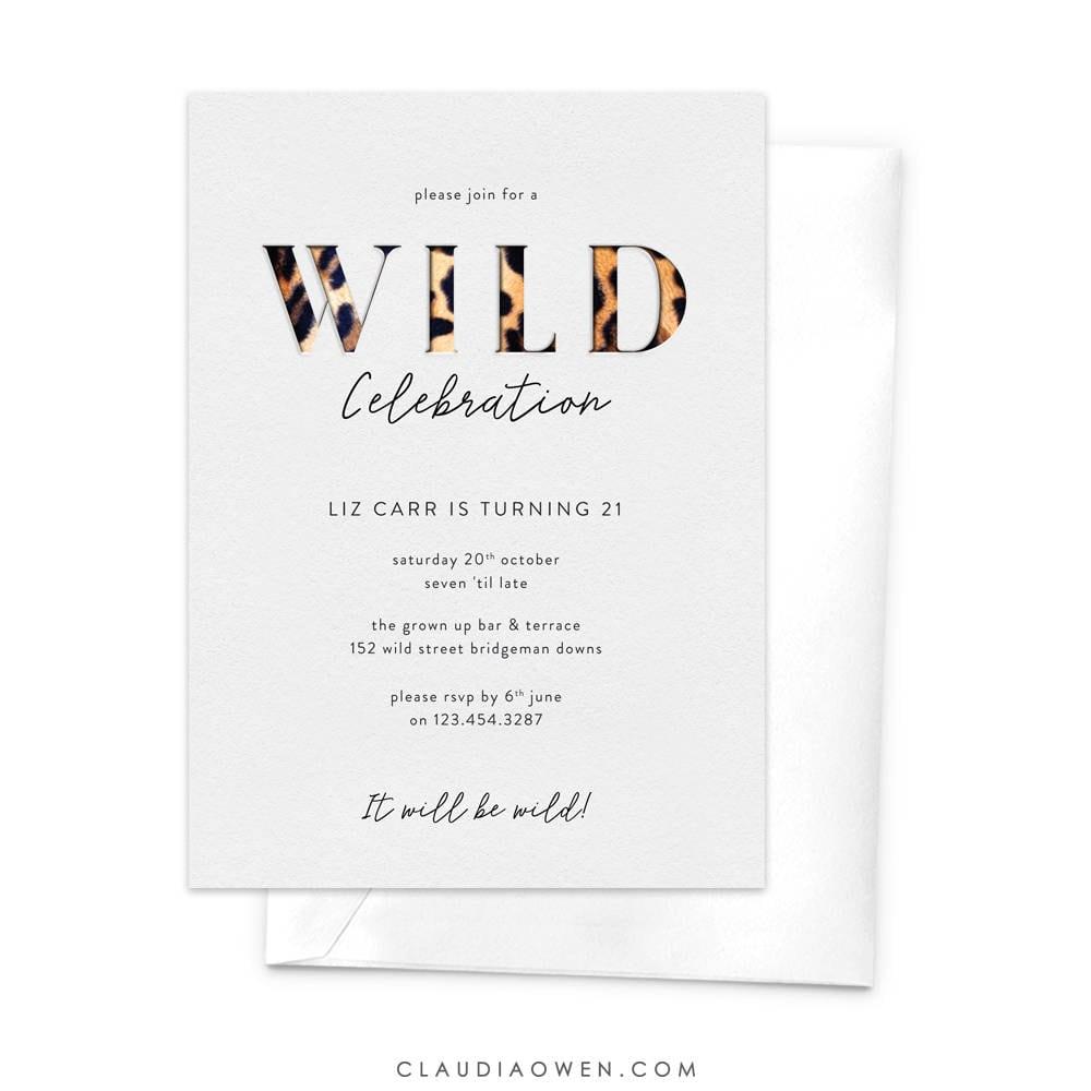 Wild Celebration Wild Party Invitation 18th Birthday 21st   Etsy
