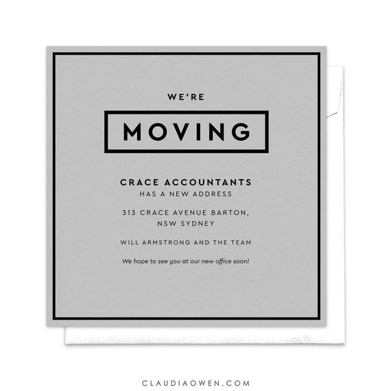 We Re Moving Office Moving Announcement Professional Etsy
