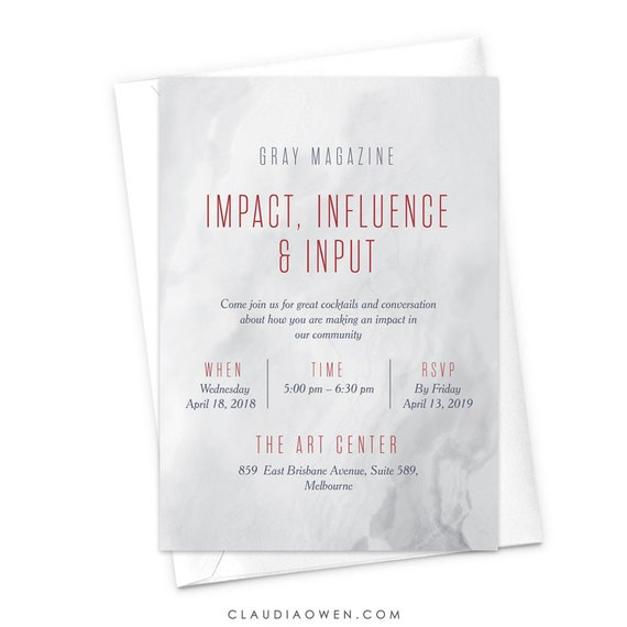 professional event corporate event business invitation work etsy