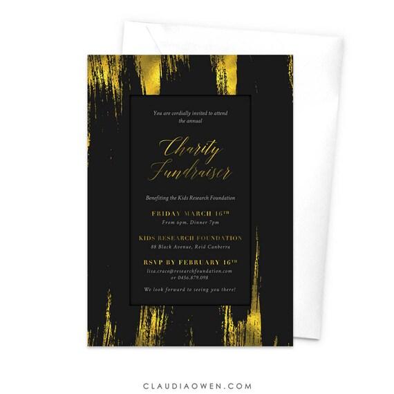 Préféré Charité levée de fonds Invitation entreprise Party soirée de | Etsy #HY_26