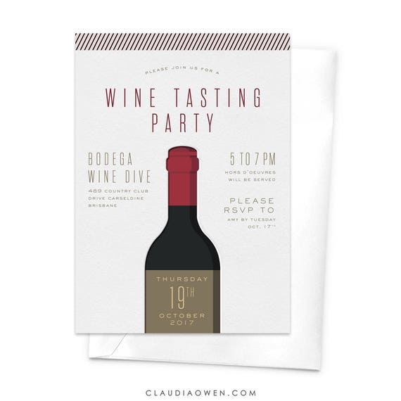 wine tasting party invitation wine and dine dinner party etsy