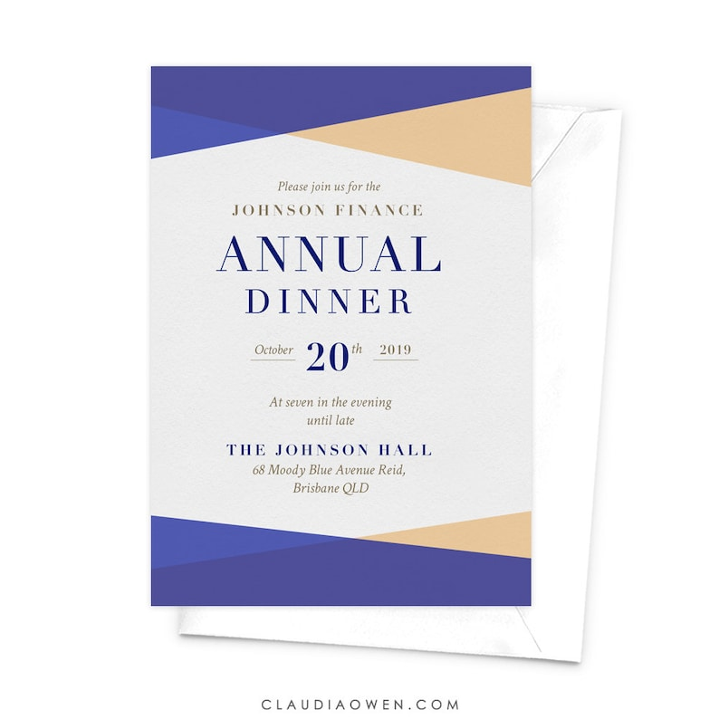 Annual Dinner Annual Client Appreciation Dinner Business Etsy