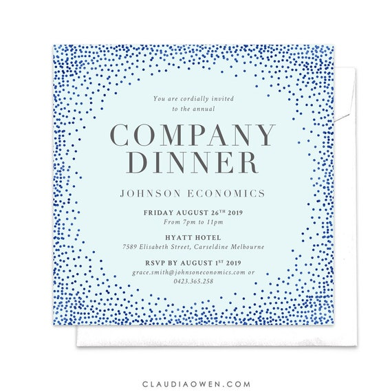 Company Invitation Company Dinner Business Invitation