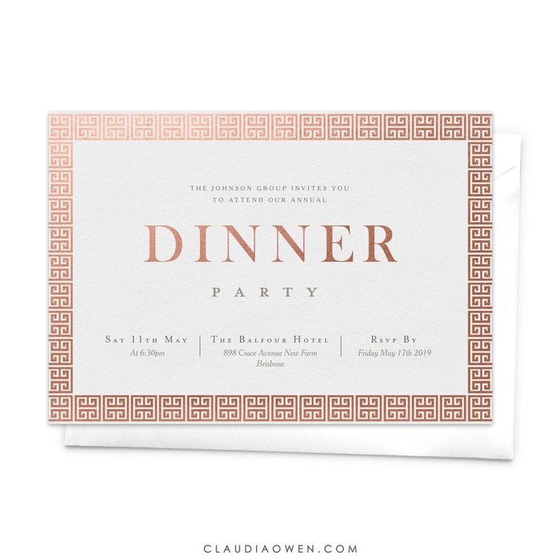 Dinner Invitation Business Invitation Annual Company Dinner Etsy