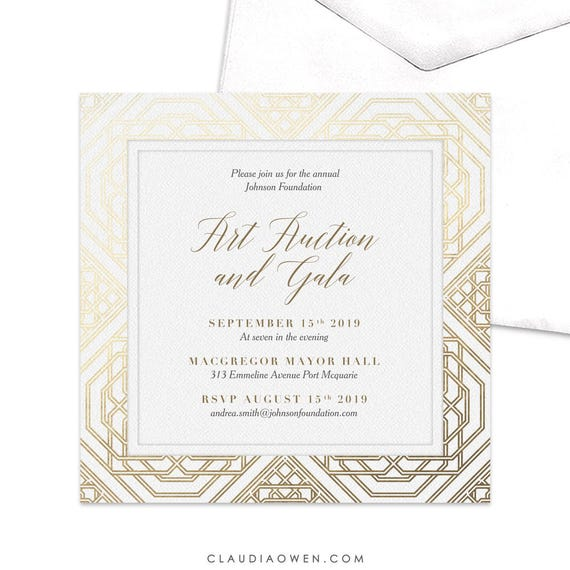 Art Auction And Gala Invitation Work Function Invitation Professional Event Invitation Corporate Event Business Invitation Work Party