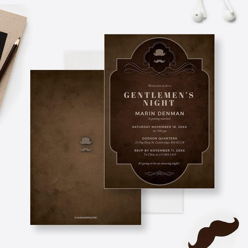 Masculine Design Bachelor Party Invitation Edit Yourself Template Gentlemen/'s Night Invites Digital Download Birthday Invitation For Men