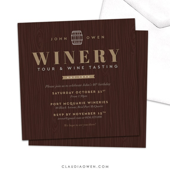 wine tasting party invitation winery tour wine and dine wine etsy