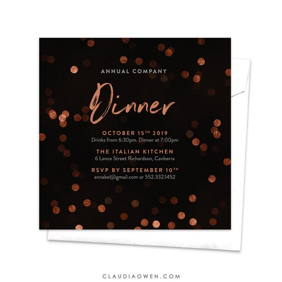 Annual Company Dinner Gala Night Annual Gala Business Invitation Awards Night Dinner Invites Professional Event Corporate Party