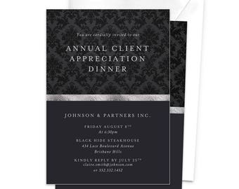 Annual Client Appreciation Dinner Business Invitation Awards