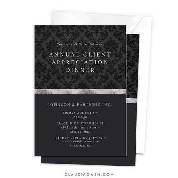 invitation for appreciation dinner