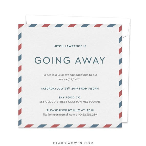 going away party goodbye party invitation leaving party etsy