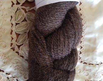 Black Finnsheep and Angora blend yarn, 4oz, 2ply Sports weight