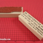 Confidence Quote Stamp / Invoke Arts Collage Rubber Stamps