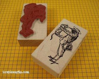 Mr Tweet Bird Stamp / Invoke Arts Collage Rubber Stamps