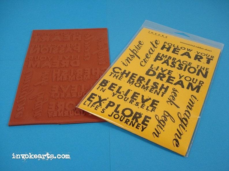 Artwords 2 / Invoke Arts Collage Rubber Stamps / Unmounted image 0
