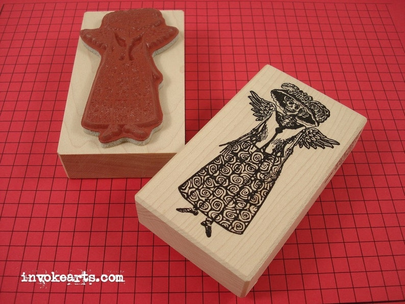 Catrina Doll Stamp / Invoke Arts Collage Rubber Stamps image 0