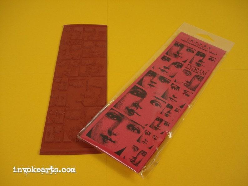 Dream Face Blocks / Invoke Arts Collage Rubber Stamps / image 0