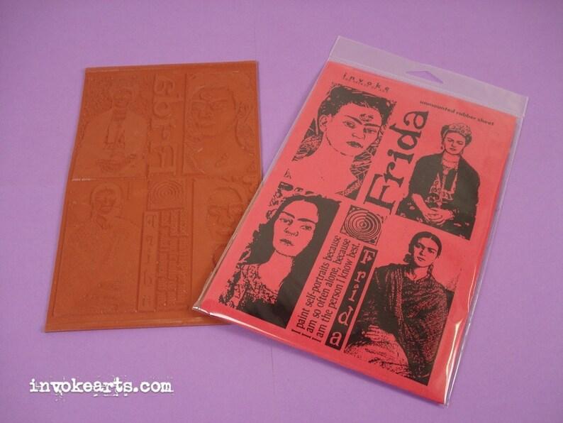 Frida Portraits / Invoke Arts Collage Rubber Stamps / image 0