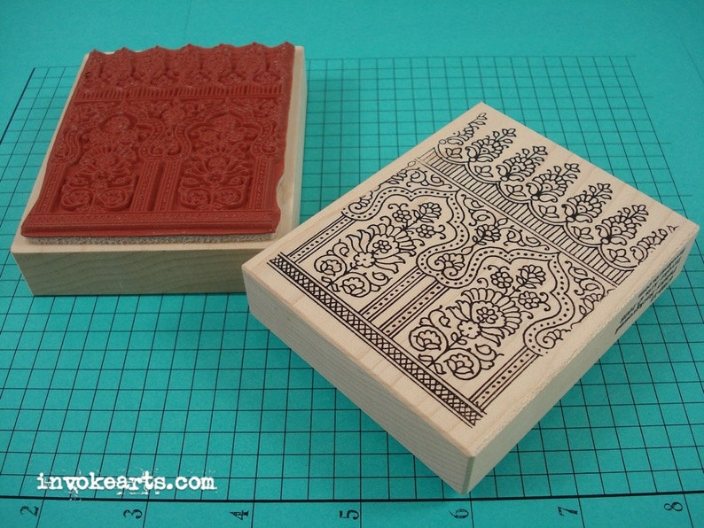 Paisley Background Stamp / Invoke Arts Collage Rubber Stamps image 0